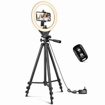10'' Ring Light with 50'' Extendable Tripod Stand, Sensyne