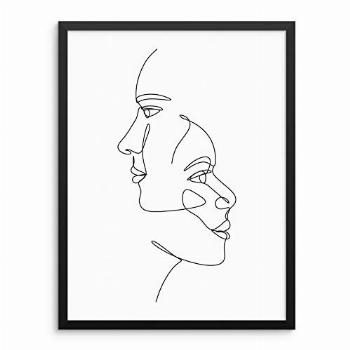 Abstract Faces Wall Decor Art Print Poster -11quotx14 UNFRAMED-