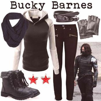 Bucky Barnes by fandom-wardrobes on Polyvore featuring Paige Denim, Aéropostale, Givenchy, Bench
