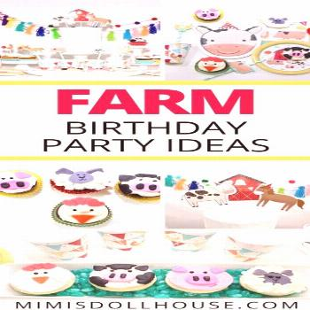 Farm birthday party decorations and ideas!Old MacDonald had a farm and so can you with an adorable
