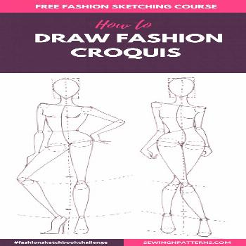 Fashion sketch like a pro with 30 days FREE fahion design course How to Draw Fashion Sketches step
