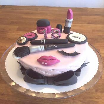 Fashion theme cake for girls Fashion theme cake for girls birthday celebration with all the makeup