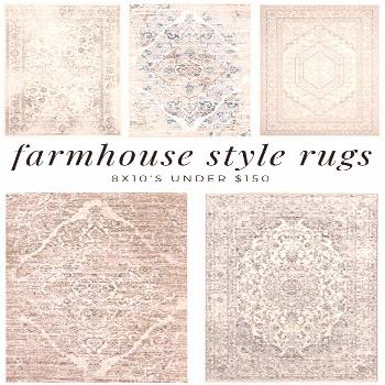 I love farmhouse style rugs, all tattered looking and gorgeous. What I do not love, is how expensiv