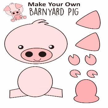It's the Year of The Pig! Click here to find a FREE printable pig template for an easy diy pig craf