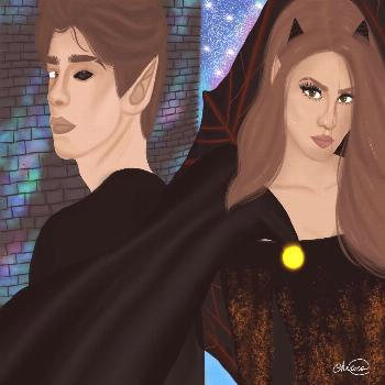 Keven and Fajra from my novel.