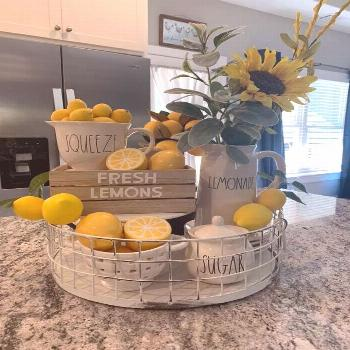 Little lemonade stand in the kitchen spring.