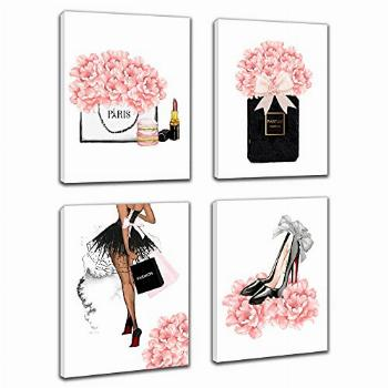 Makeup Room Framed Canvas Wall Art, Fashion Women Picture