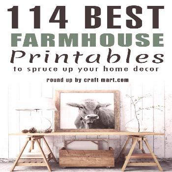 One of the quickest ways to add farmhouse style and flavor to any interior is to decorate with free