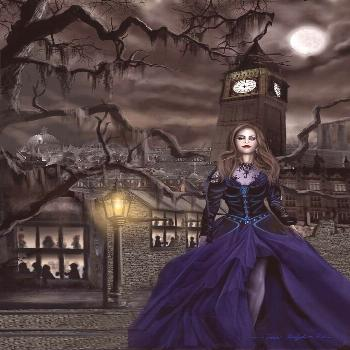 Painting - Drucilla - Gaslight Fantasia Cover Darkhair by James Christopher Hill ,