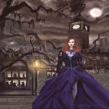 Painting - Gaslight Fantasia Cover Redhead by James Christopher Hill ,