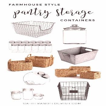 Recently, I shared some Pantry Organization Inspiration with you all. Today, I will be sharing my f