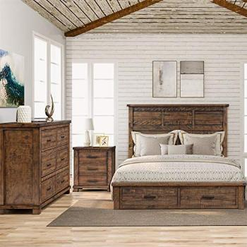 SOFTSEA 3 Piece Queen Bedroom Furniture Set Farmhouse Style,