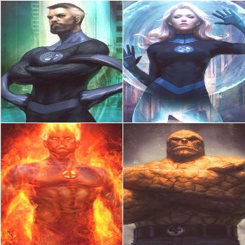 The team Fantastic Four is a representation of the four elements ): Water(Reed), Wind (Sue), Fire(J