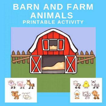 This barn and farm animals printable can be used in a variety of ways during the farm theme. Perfec