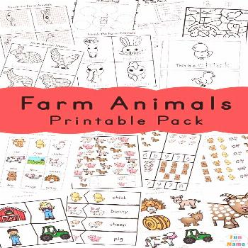 Use this set of Farm animals activities for preschoolers for your farm theme lesson plans.