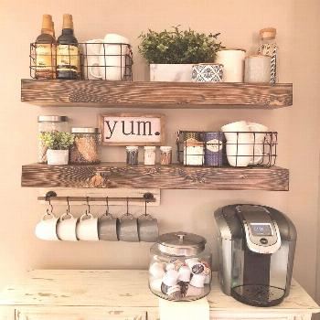 Wooden Shelves Display your style with this set of true floating shelves. The shelves come with bra