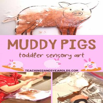 You must try this awesome muddy pig sensory art for toddlers! Well, preschoolers, too! And everythi