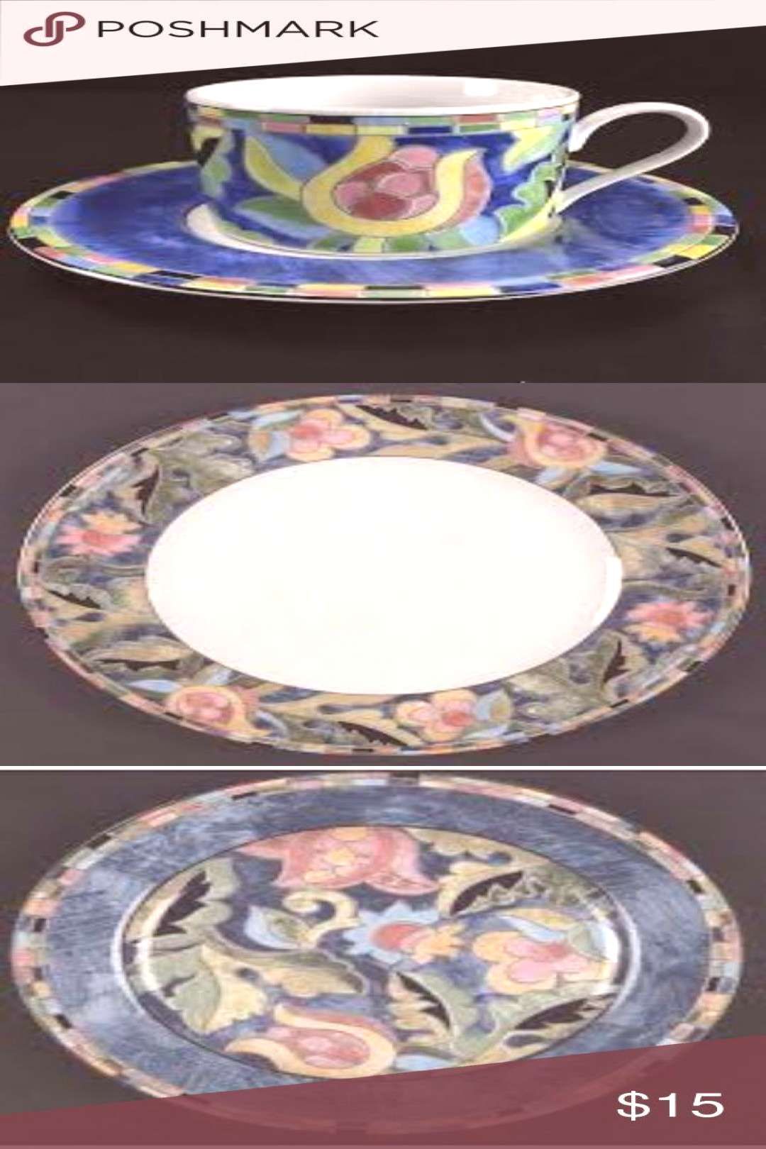 5-piece place setting Fantasia China by INTERIORS 5-piece Ge-5-teiliges Gedeck Fantasia China von I