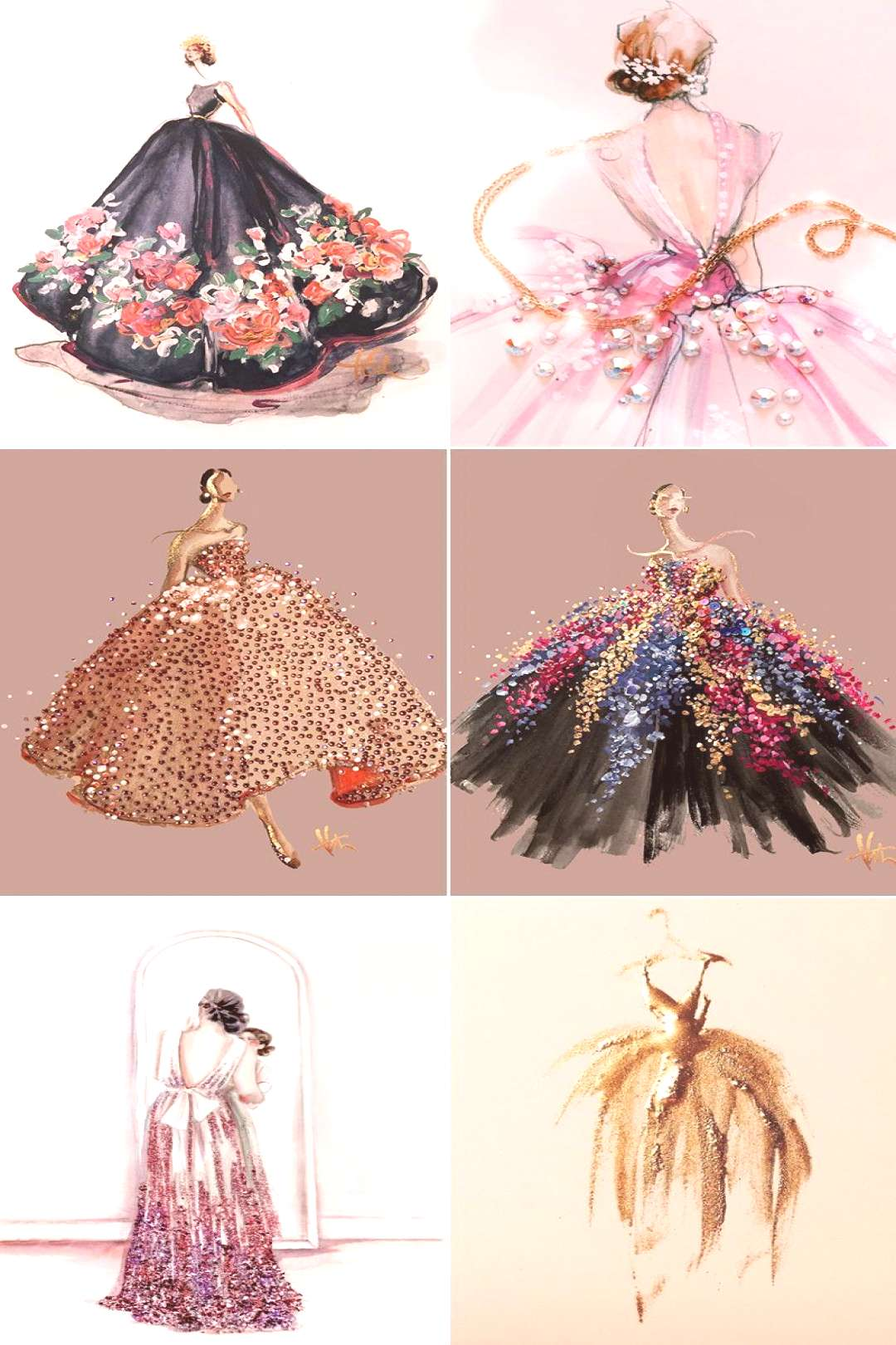 6 Mind-Blowing Fashion Illustrators You Need to Follow! Katie Rodgers of Paper Fashion shop, save,