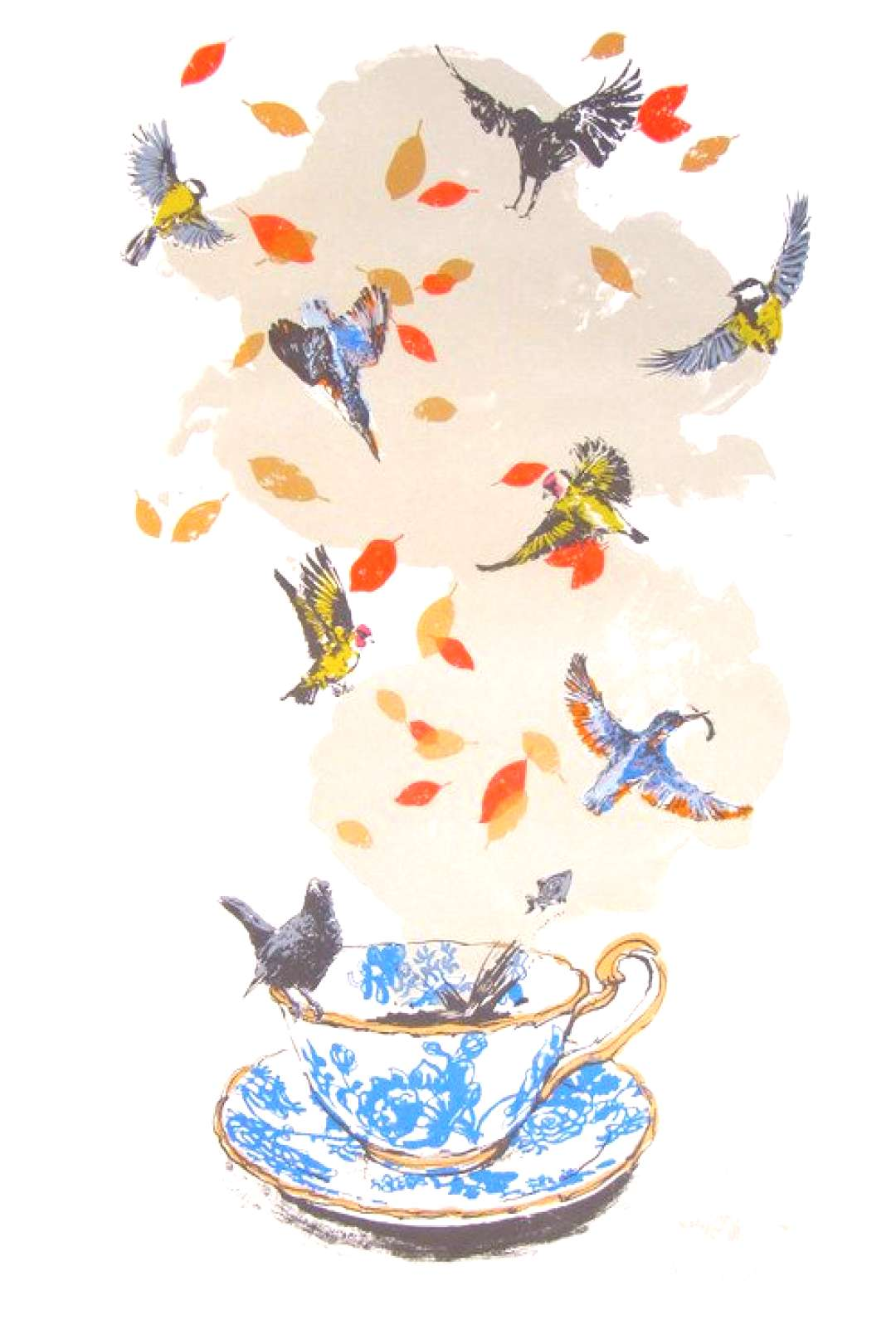 A storm in a tea-cup My favourite screen print by Sarah Targett
