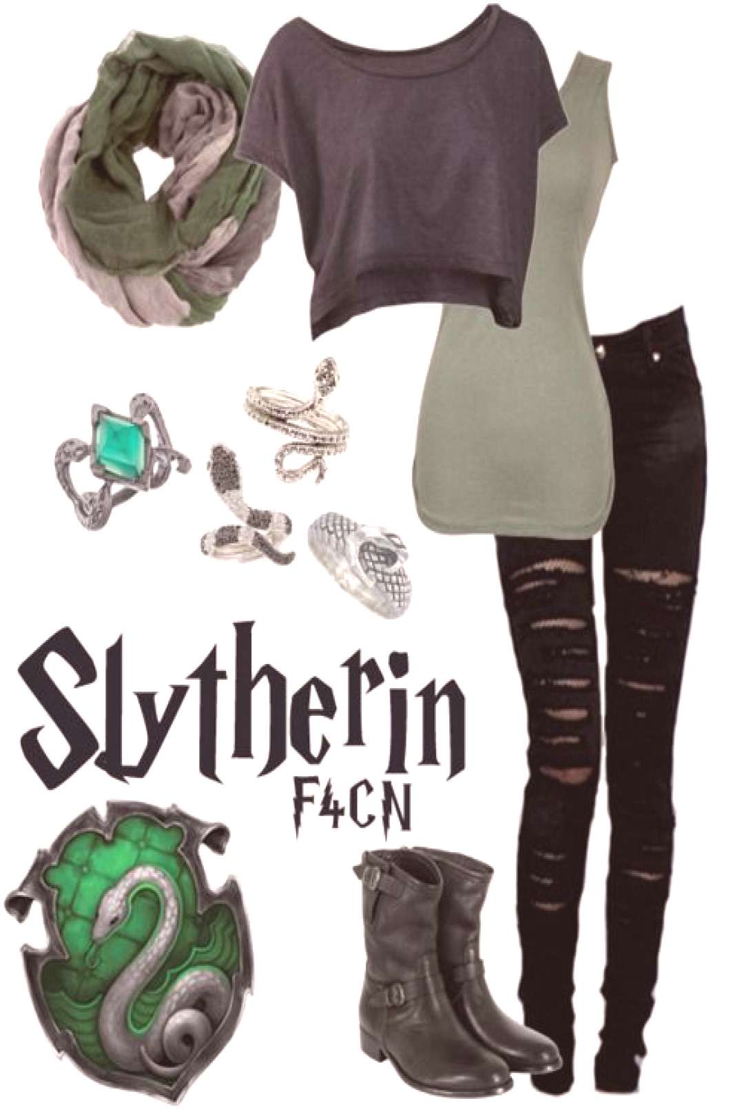 Again here is to Slytherin! however this could be tweaked a little bit in order to work as a Death