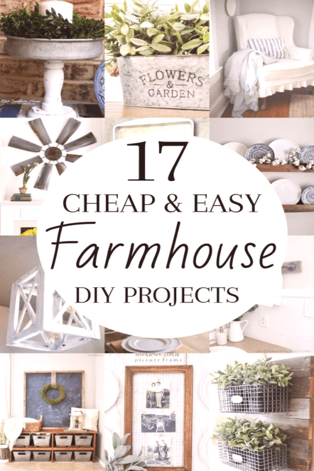 DIY Rustic Farmhouse Decor Projects for Your Country Chic Cottage. Joanna Gaines would even be amaz