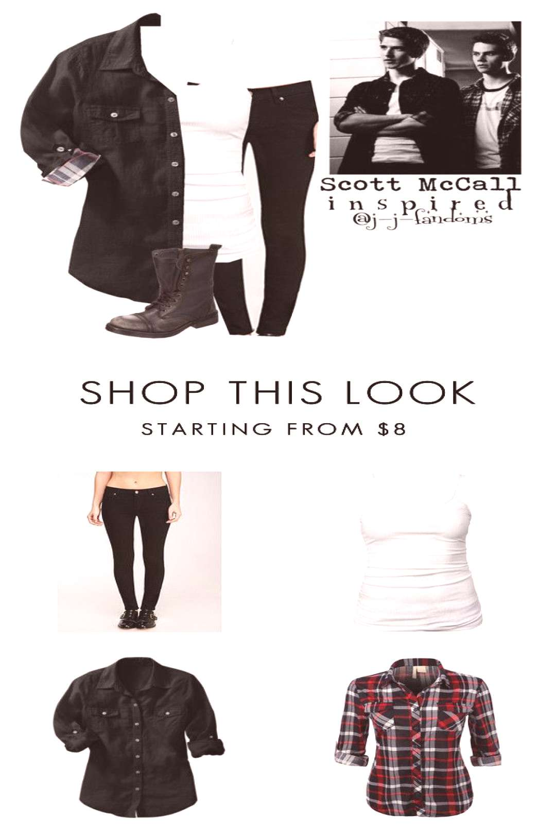 quotfem! Scott McCall quotTeen Wolfquot Inspired outfitquot by j-j-fandoms ❤ liked on Polyvore featuring Fore