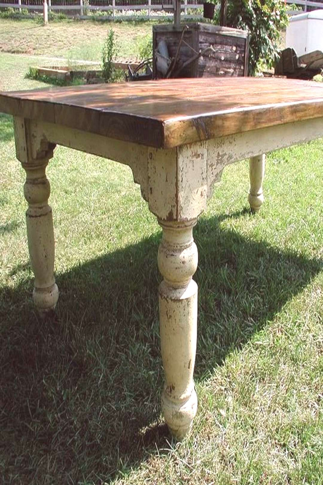 Hand Crafted Farm Table - Iron Accents
