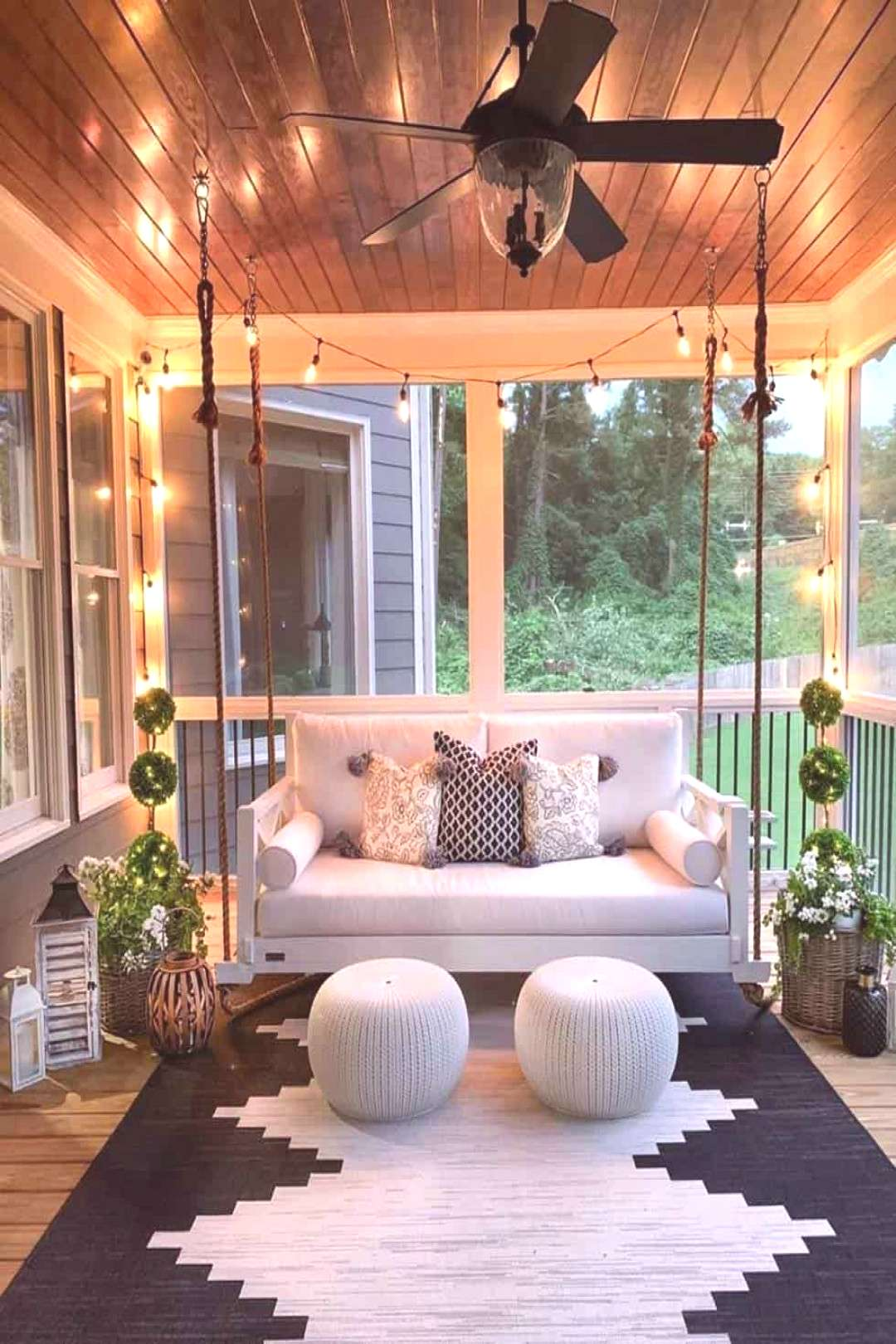 Home Interior Salas 20 Gorgeous And Inviting Farmhouse Style Porch Decorating Ideas