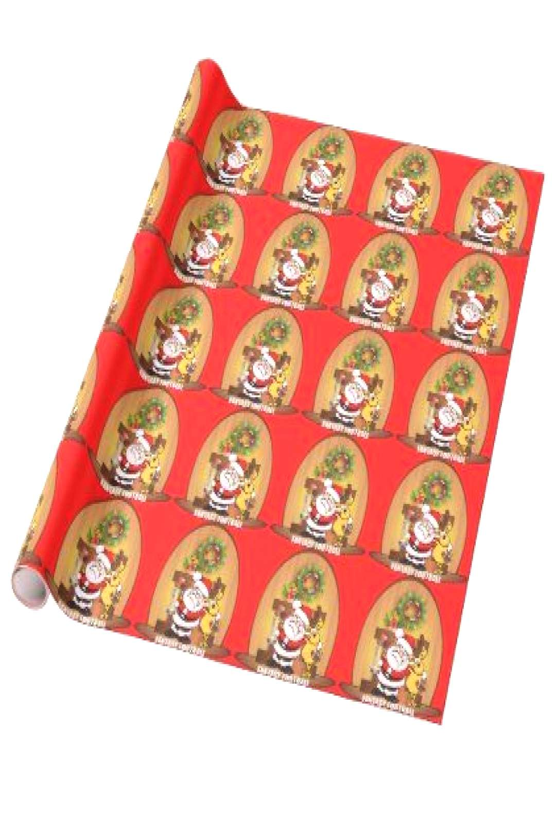 I Love Fantasy Football Santa and Reindeer Wrapping Paper
