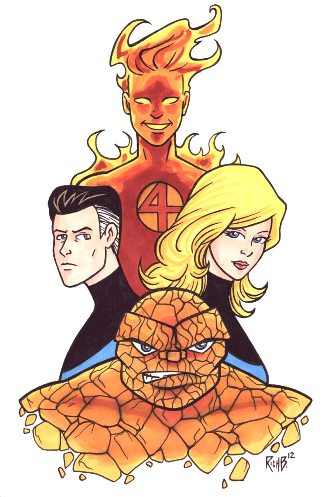 Illustrious Bits Week 40 The Fantastic Four by RichBernatovech