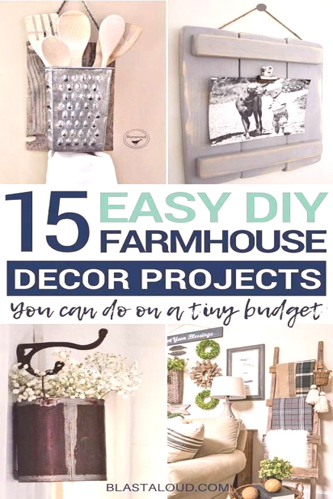 Looking for easy DIY farmhouse decor and furniture ideas that you can do on a budget? Then look no
