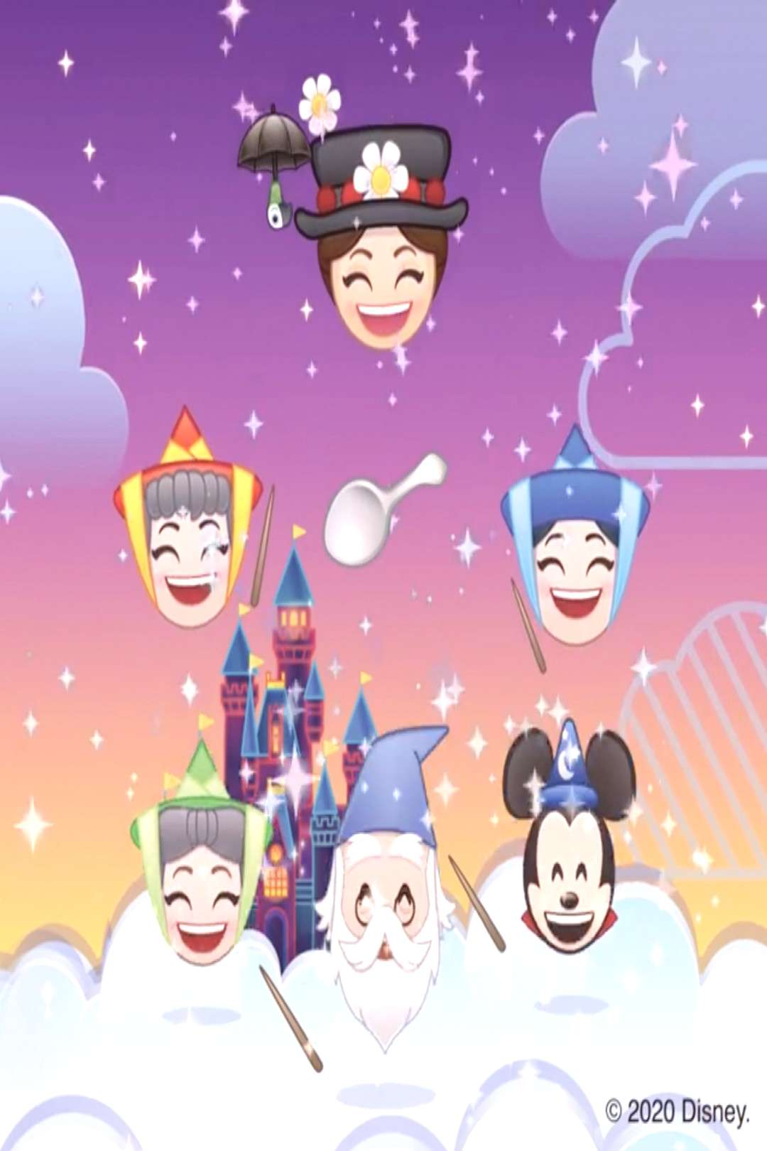Magic Emoji Challenge [feat. Mary Poppins, Flora, Merryweather, Fauna, Merlin amp Mickey Mouse (as th