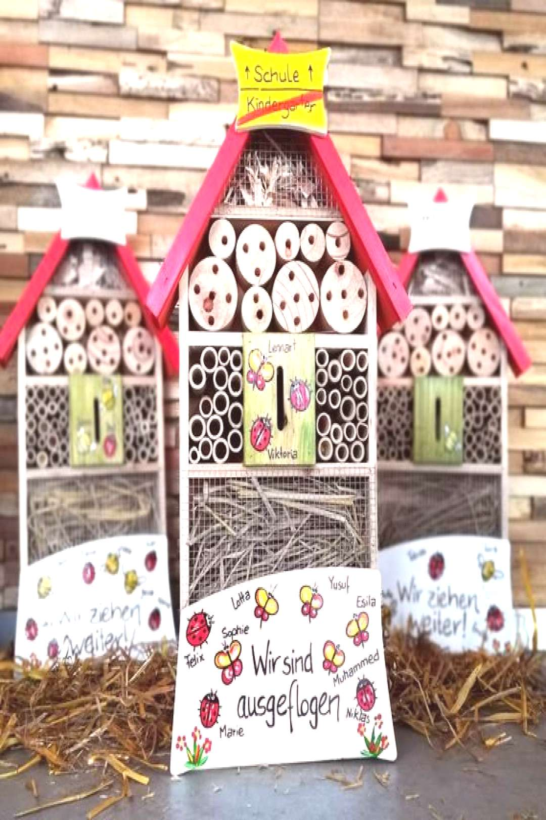 Nursery Farewell Gift I Farewell Gift Nursery I Farewell Educator I Insect Hotel, weatherproof, wit
