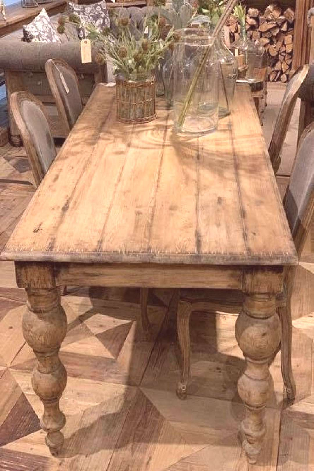 Old Traditions Dining Table – Laylaloou Each is one of a kind made from reclaimed wood. This is