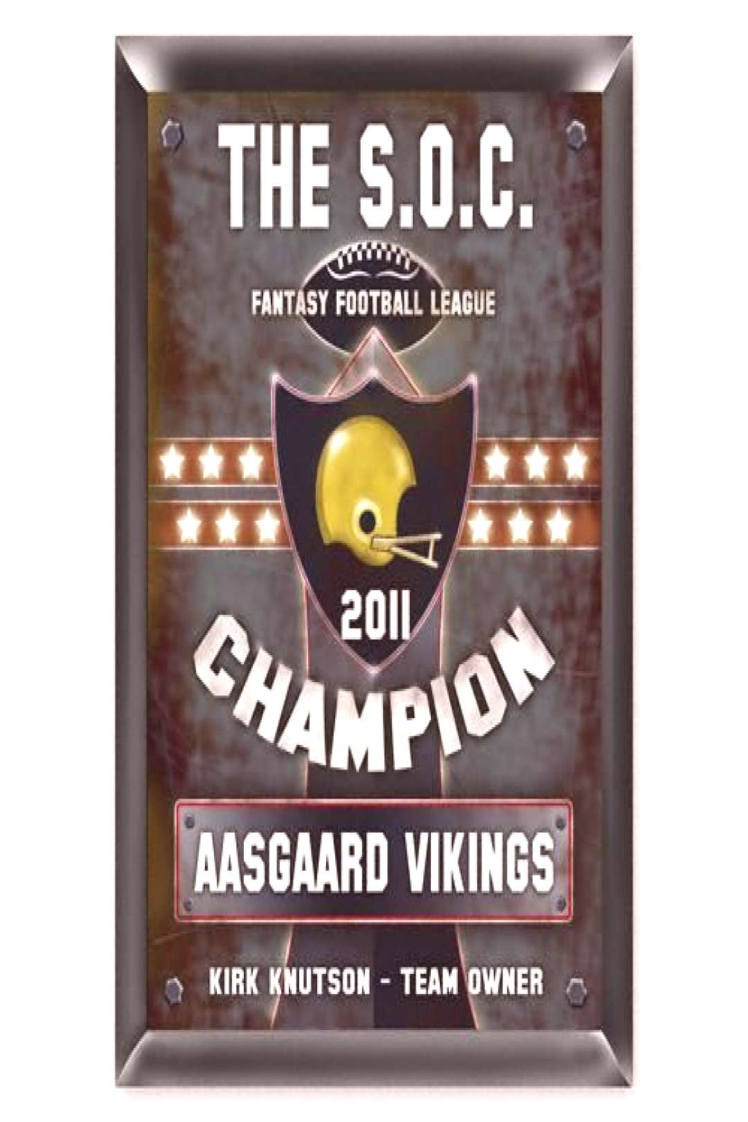 Personalized Fantasy Football Traditional Pub Sign