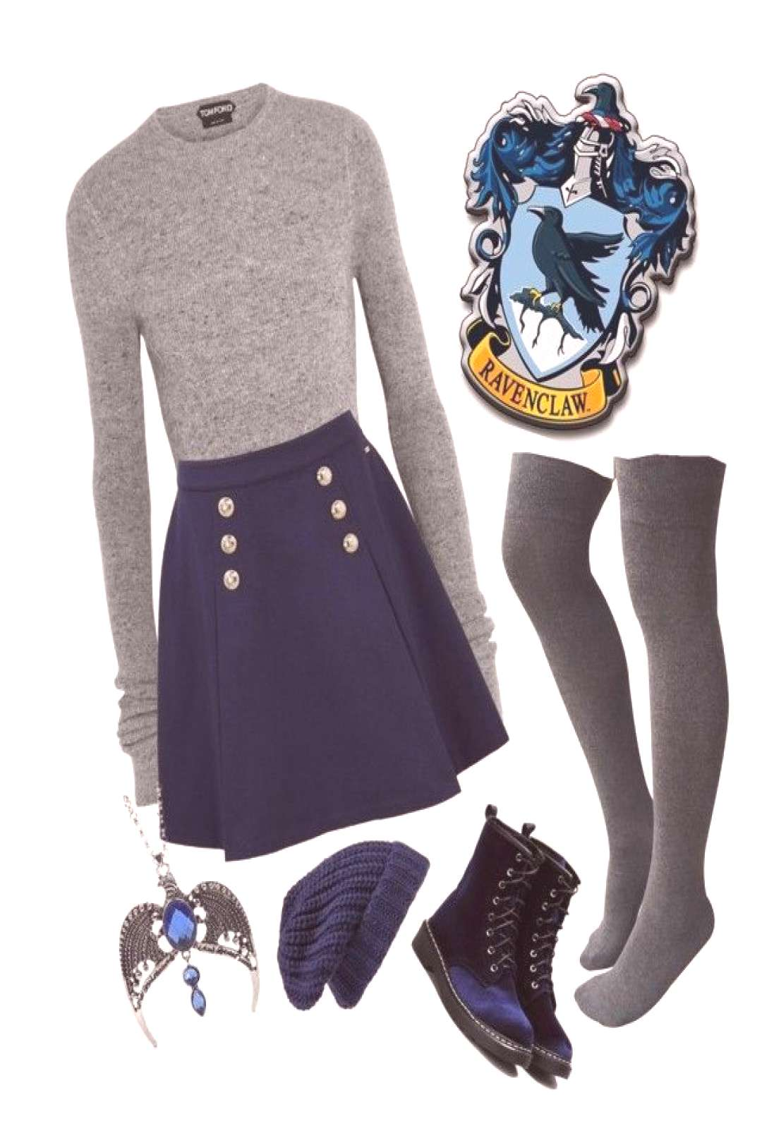 Ravenclaw Ravenclaw by closhadow ❤️ liked on Polyvore featuring Tom Ford, Tommy Hilfiger and Hi