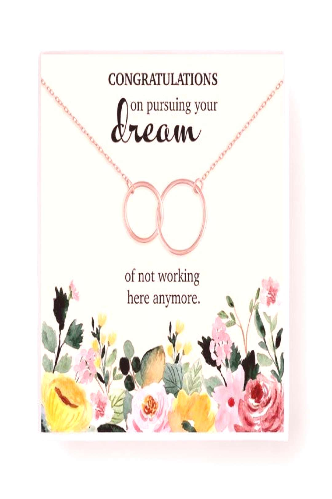 Retirement Gift for Women Necklace • Going Away Gift for Coworker • Farewell Gift for Colleague