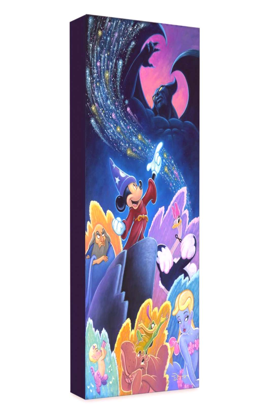 Sorcerer Mickey Mouse Splashes of Fantasia Giclée on Canvas by Tim Rogerson shopDisney
