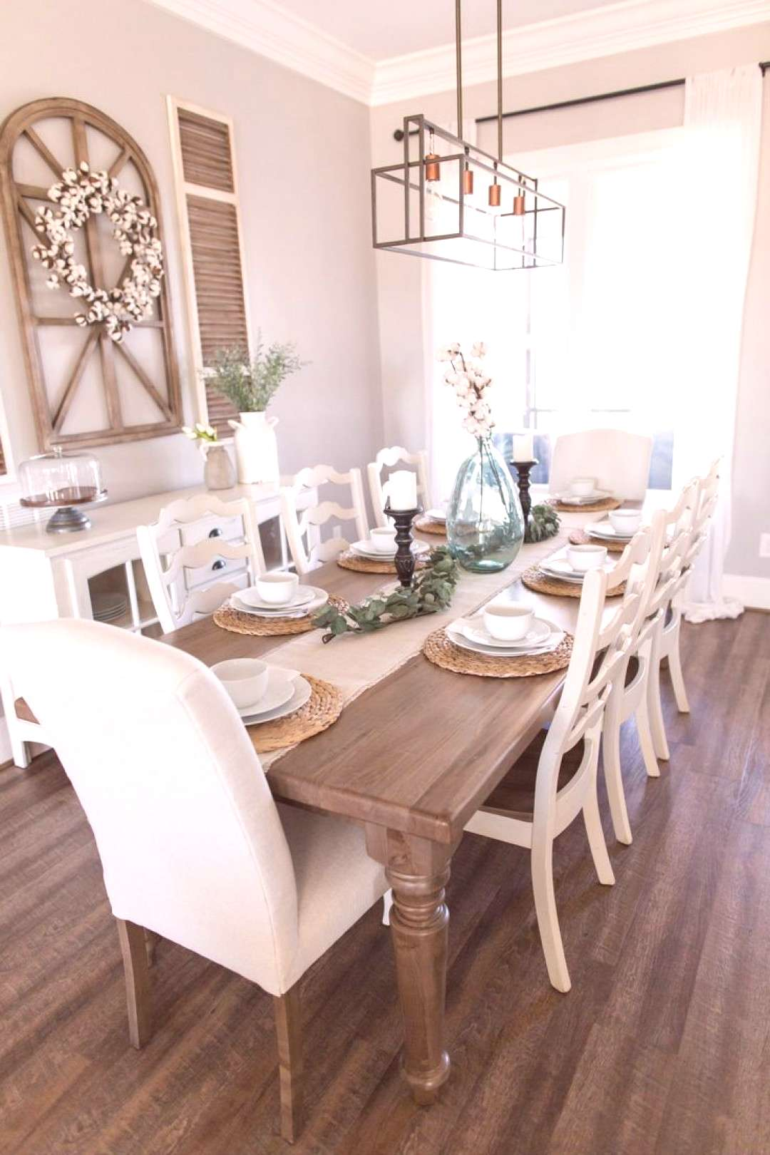 Spring Farmhouse Dining Room Table Ideas, Place Setting, Cotton, Decor, Inspiration, Decorating, Mo