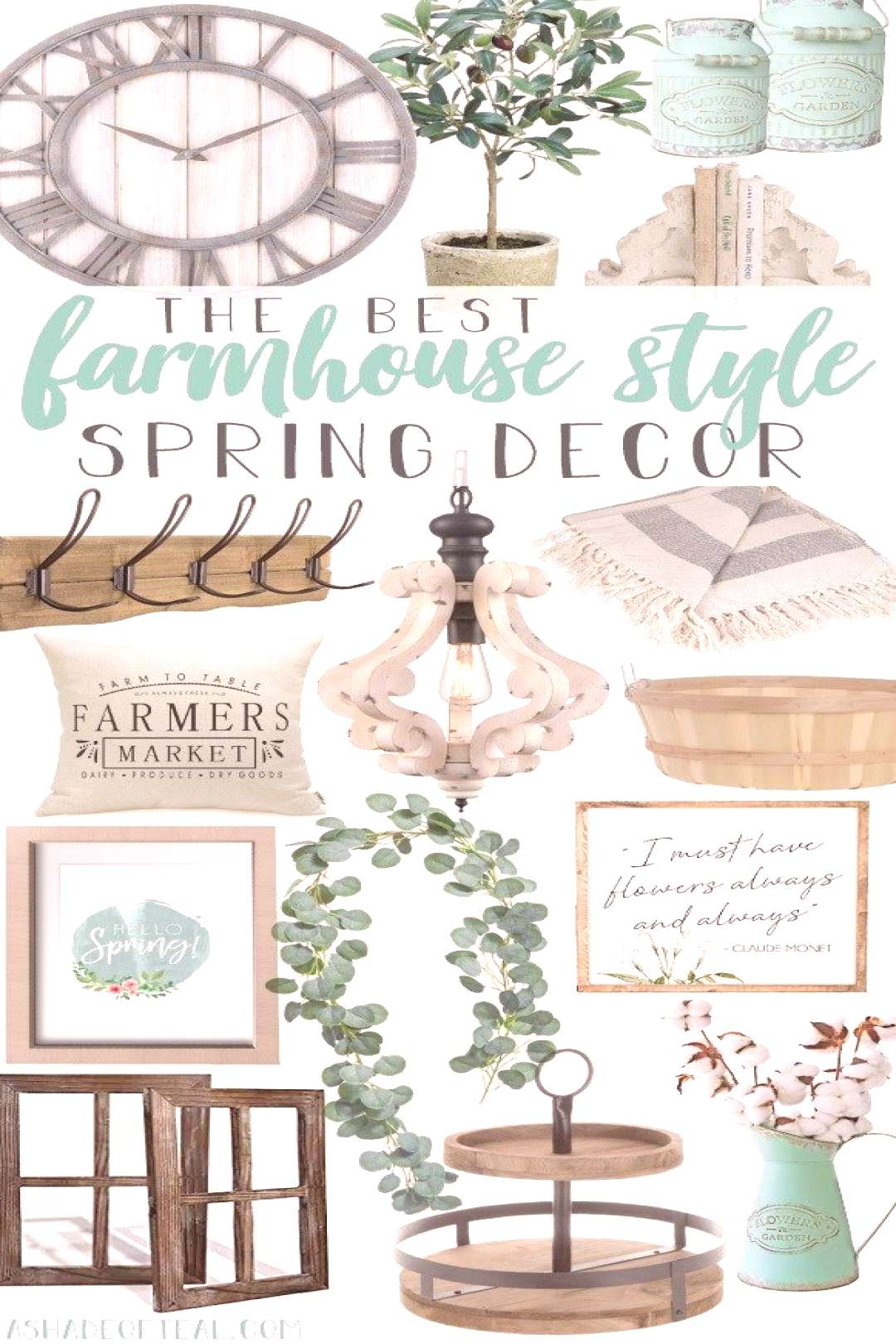 The Best Farmhouse Style Spring Decor. Ready to update for Spring? Then come shop with me and check