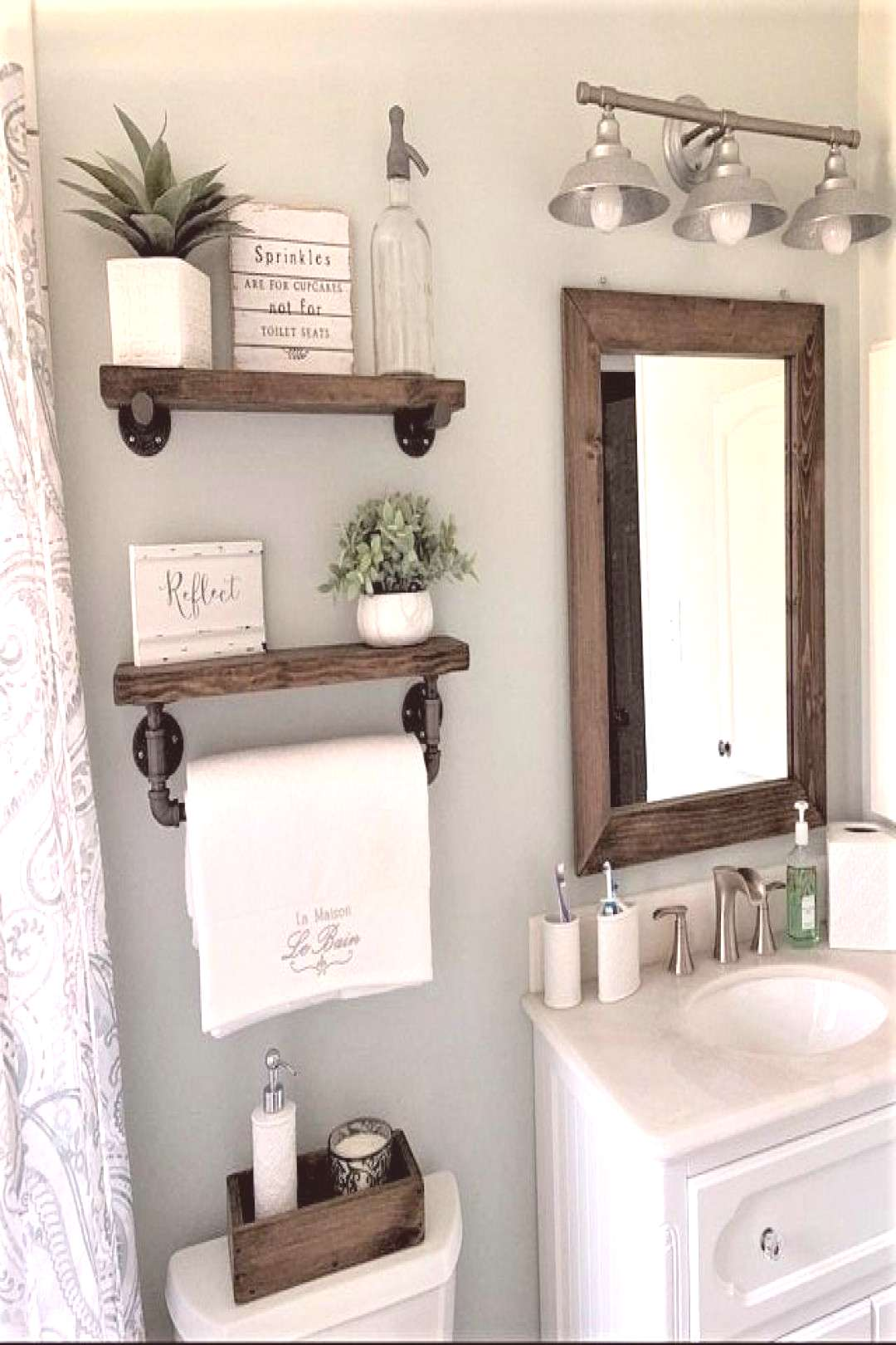 The Secret Ingredient Is Always Love Sign Cozy Farmhouse Decorations Done in Adorable Country Style
