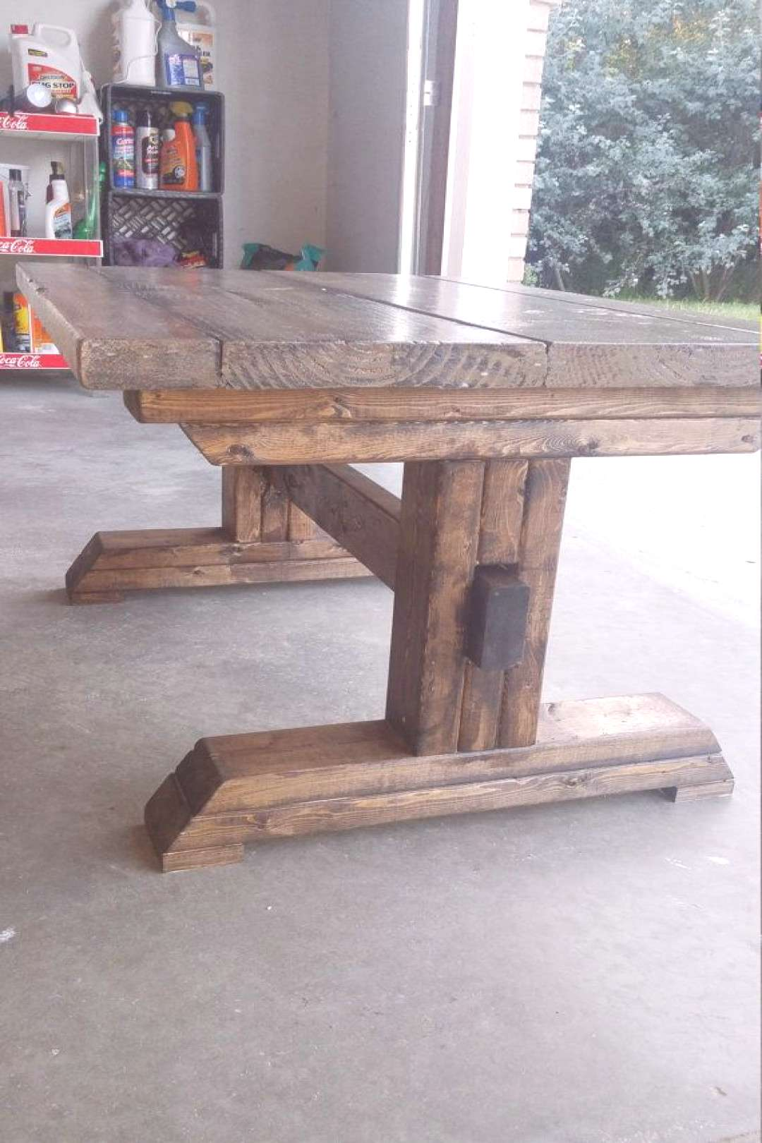 This is a beautiful hand-made coffee table to replicate a large farm-house…