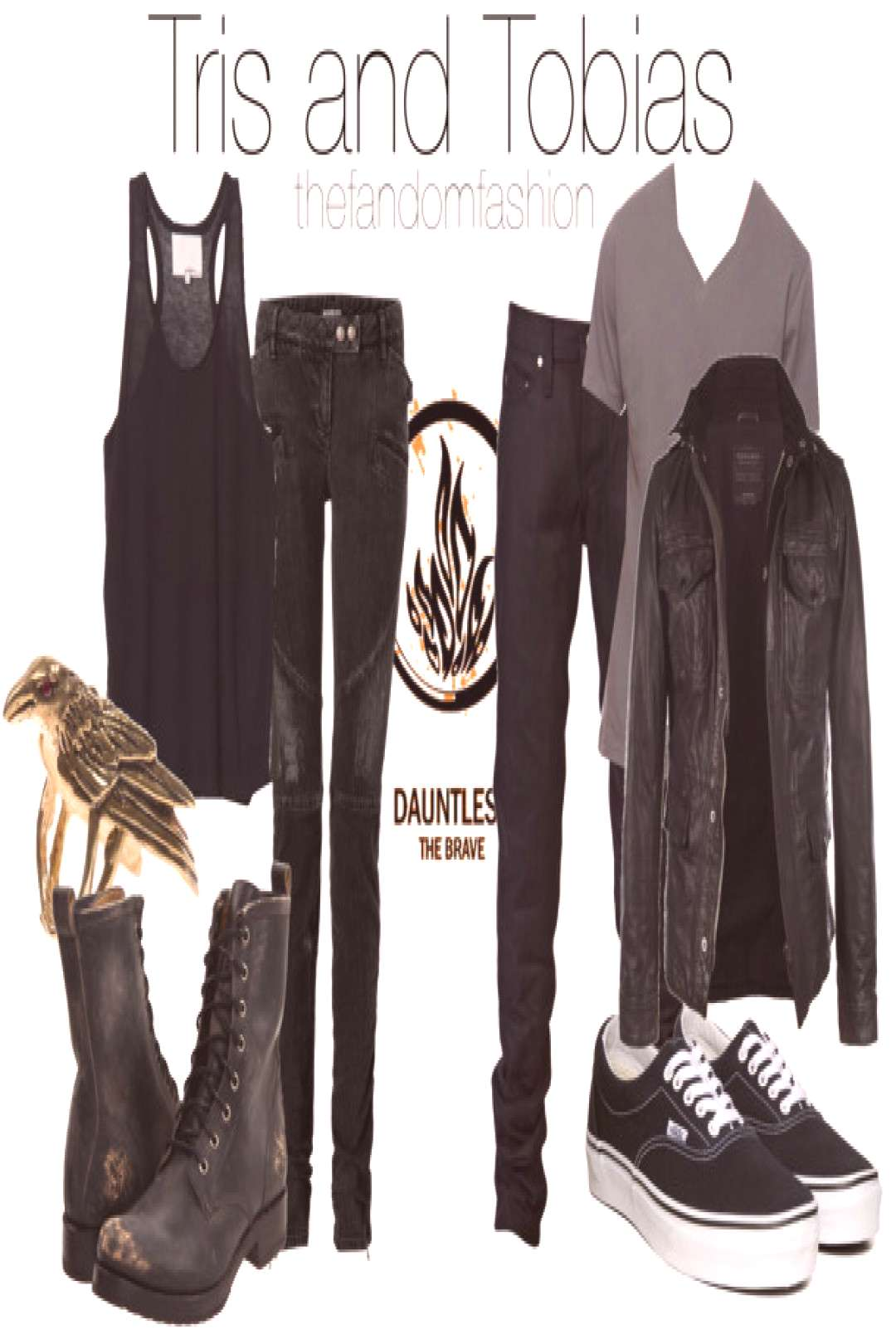 Tris and Tobias inspired outfits