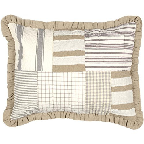 VHC Brands Grace Sham Standard Size Quilted Soft Cotton